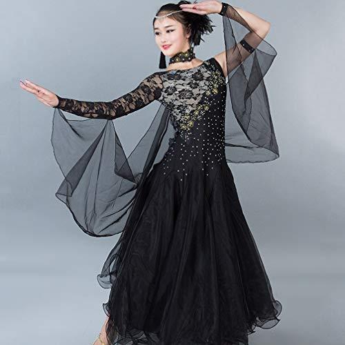M Competizione Donne Standard Black Per Costumi Sala Abiti Di Liscio Tango Da Balli Prestazione Wqwlf Moderno s Valzer wnHZ6HqB