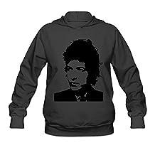 O-Neck Bob Dylan Hoodies For Ladies Black XXL Stylish Hoodies