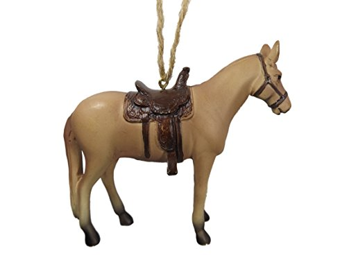 Rodeo Christmas Ornament (Tan Horse Western Rodeo Cowboy Cowgirl Christmas Tree Ornament)
