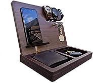 Regalo para hombre y mujer, organizador para celular, relojes, llaves, cartera, estación de carga, regalo de c