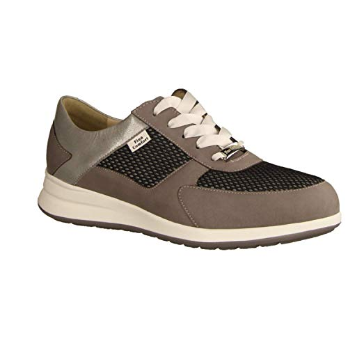 Mujer Para De Gris 901998 Zapatos Lona Cordones 02282 Finncomfort WwqF0Z71Hx