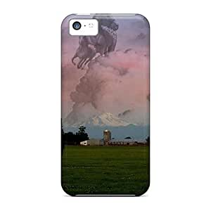 New Style Tpu 5c Protective Case Cover/ Iphone Case - Ghost Horse Series #6