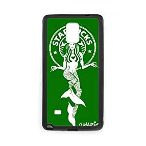 Special Design Cases Samsung Galaxy Note 4 N9108 Cell Phone Case Black Starbucks Yrurc Durable Rubber Cover