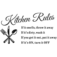 sjinc newest hot sale hot removable kitchen rules words wall stickers decal home decor vinyl art mural - Home Decor For Sale