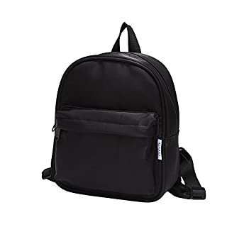 BIGHAS Lightweight Mini Kids Backpack with Chest Strap For Preschool Kindergarten Boys and Girls 3-6 Years Old 21 colors (Black)