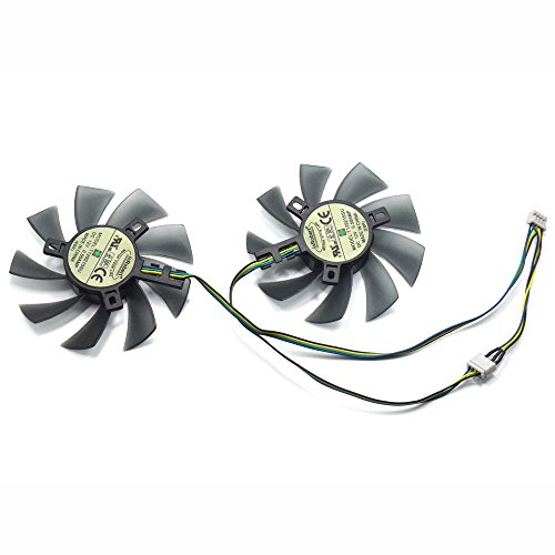 inRobert DIY Two Ball Bearing Graphic Card Fan 85mm Diameter 40x40x40mm Cooling Fan For MSI Gigabyte Sapphire Zotac XFX Mining GPU (1 pair)