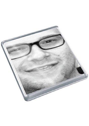 SETH ROGEN - Original Art Coaster #js001