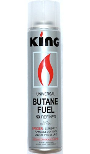12 Pack of King Butane 5x Quintuple Refined Refill