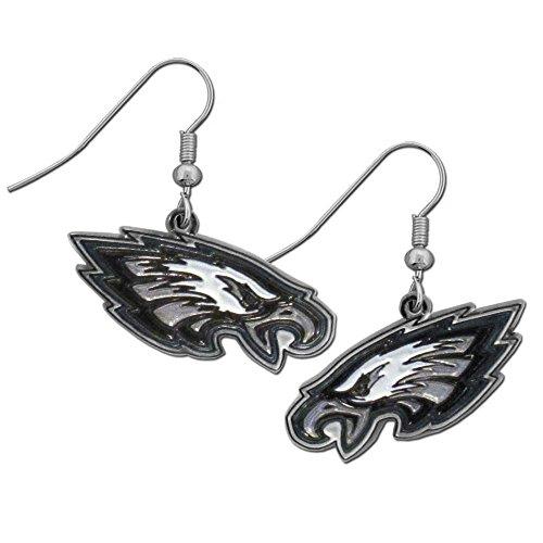 (NFL Philadelphia Eagles Chrome Dangle Earrings)