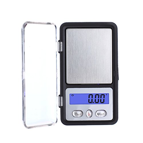 TBBSC Smart Weigh High Precision Mini Digital Jewelry Pocket Scale 200g/0.01g Reloading