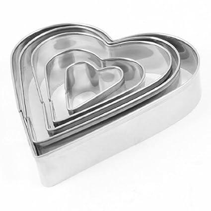 eDealMax Craft del diseño del corazón de Alimentos galleta de la torta molde del cortador 5