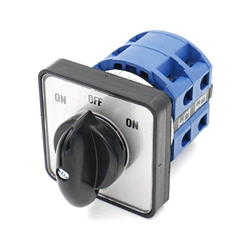 ole 3-Position Latching 8 Terminals Changeover Control Rotary Cam Switch ()