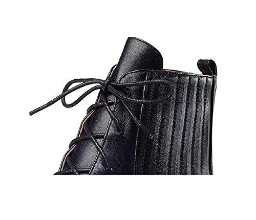 scarpe in piattaforma campagna 37 la Casual aumenta pelle red Martin donna 38 Scuola stivali Bootie Wind SILVER Flat stivali x6wgF68tq