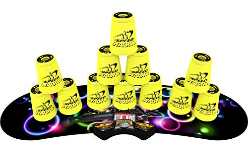 (SPEED STACKS Competitor - Neon Yellow w/ Neon Bubbles Mat)