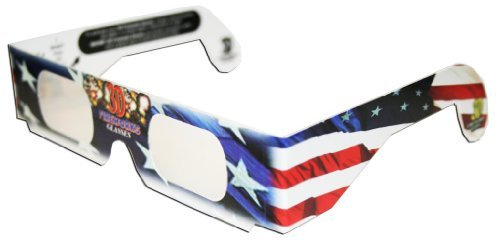 3D Fireworks Glasses July4th Patriotic Flag Design, See Starbursts In Every Point Of Light, Pack of 10