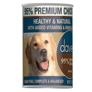 Picture of Dave's 95% Premium Chicken Formula Canned Dog Food 12*13oz