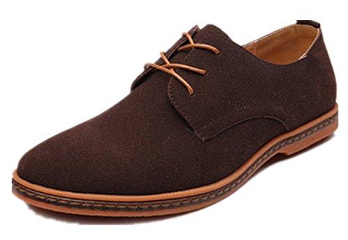 Moda Uomini scamosciato Pelle PU Dimensione Bebete5858 casuale Extra Marrone 48 scarpe particolarmente Inghilterra stile Uomo Grande fnAa6q