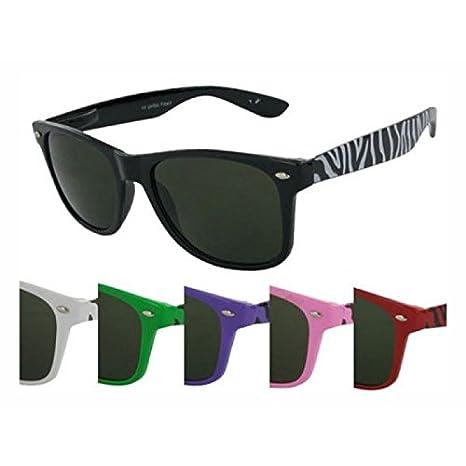 Chic Zebra Lunettes de soleil lunettes net nerd sombres teintés nuances UV 400 Wayfarer de vert XjJFxq37nV