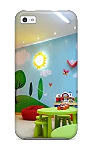 For Iphone 5c Fashion Design Colorful Kids Playroom With Wall Mural And Hanging Chair Case-FrggieQ3031wRfnx by icecream design