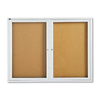 Amazon Com Quartet Outdoor Cork Bulletin Board Enclosed