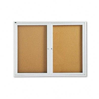 QRT2364 - Quartet Enclosed Cork Bulletin Board for Indoor Use