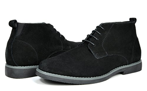 Bruno Marc Men's Chukka Black Suede Leather Chukka Desert Oxford Ankle Boots - 8.5 M US