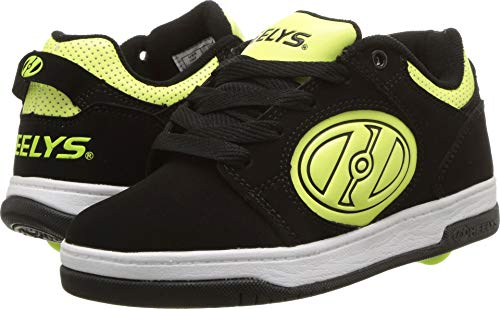Heely S Skate Shoes - Heelys Boys' Voyager Tennis Shoe Black/Bright Yellow G.I.D. 3 M US Big Kid