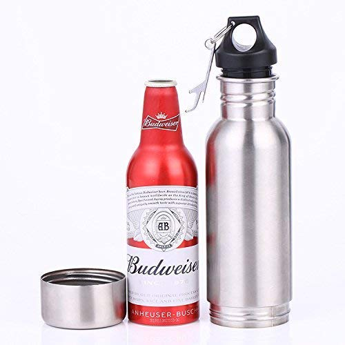 Beer Bottle Insulator, Stainless Steel Beer Bottle Insulator (2 Pack) Keeps Beer Colder With Opener/Beer Bottle Holder For Outdoor or Party … (Silver) by Starimac (Image #1)