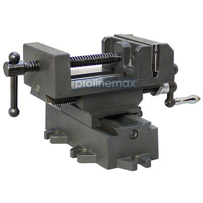 Drill Press Mill (2 Way 4'' Drill Press X-Y Compound Vise Cross Over Slide Mill Drill Press Table)