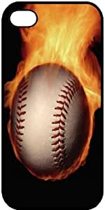 Baseball on Fire BN for iPhone 5 and other devices protective snap on plastic case