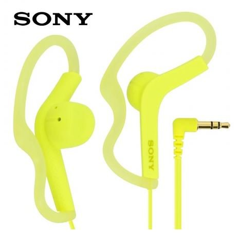 Sony Extra Bass Active Sports in Ear Ear Bud Over The Ear Splashproof Premium Headphones Lemon Yellow (Limited Edition)