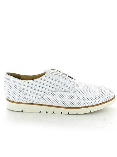 G para Bianco Mujer Geox D Cordones Kookean de Derby Zapatos wUxq74E