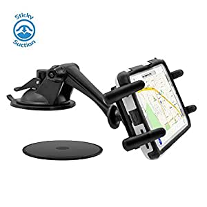 High Grade Car Dash Mount Holder / Windshield 360 Degree Cradle Mount for Motorola Moto X, G, E Google Nexus 5X, 6, 6P and Droid Turbo Mobile Phones and More (Accommodates Skins, Bumpers or Rugged Cases)