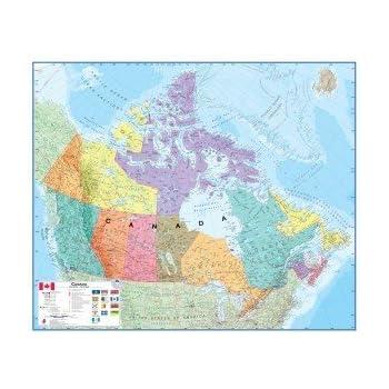 Amazon canada laminated wall map map of canada office canada laminated wall map sciox Image collections