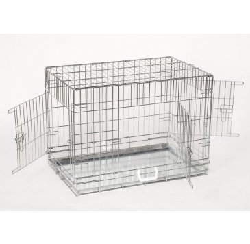 leopet® Perros transporte jaula de 3 puertas Talla XL: Amazon.es ...