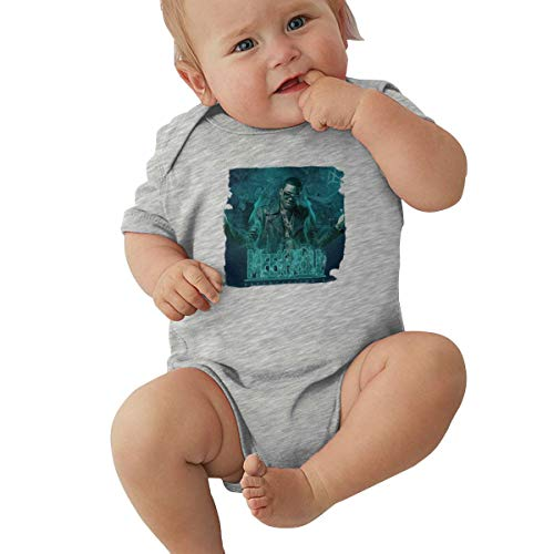 Meek Mill-Dreamchaser Music/Rock Band Logo Baby Jersey Bodysuit Short Sleeve Baby Clothes Gray ()
