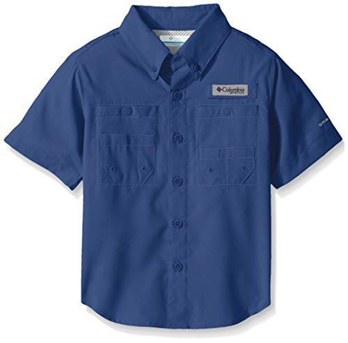 Columbia Boys Tamiami Short Sleeve Shirt, Vivid Blue, Medium