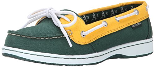 Eastland Women's Sunset MLB Athletics Boat Shoe - Green/Y...