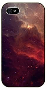 iPhone 5 / 5s Red galactic nebula - black plastic case / Space, Stars, Fantasy