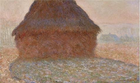 'Haystack In The Sunlight, 1890 By Claude Monet' Oil Painting, 16x27 Inch / 41x68 Cm ,printed On High Quality Polyster Canvas ,this Vivid Art Decorative Prints On Canvas Is Perfectly (Blonde Couple Halloween Costumes)