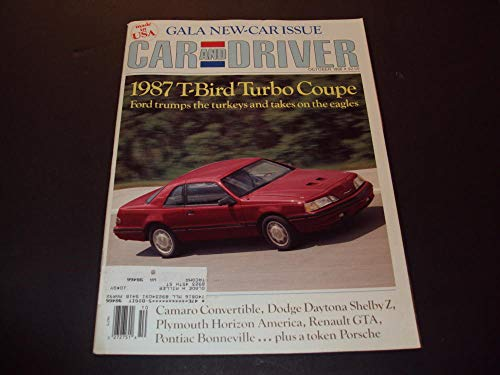 Car And Driver Oct 1986 Tbird Turbo Coupe, Camaro Convertible