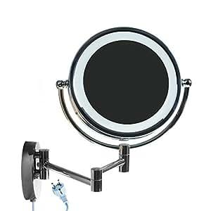 Himry led cosm tica espejo 8 5 pulgadas 10x aumentos de for Espejo 8 aumentos