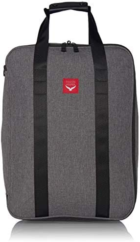 Falcon Keeper Carry-on Underseat Shoulder Luggage Bag Grey, 15 inches