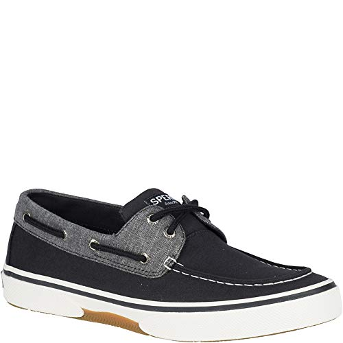 Eye Black Shoe - SPERRY Men's, Halyard Boat Shoe Chambray Black 10.5 M