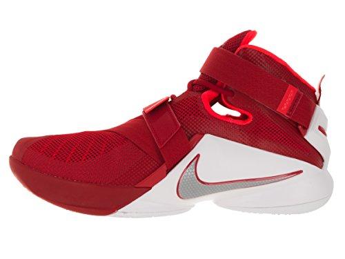 Nike Mens Lebron Soldier Ix Tb, Università Rosso / Argento Metallizzato-bianco-br Università Rosso / Metallico Argento-bianco-br