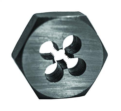 Century Drill & Tool 96202 High Carbon Steel Fractional Hexagon Die, 1/4-28 - Nf Die Hex 28