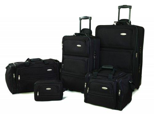 Samsonite 5 Piece Nested Luggage Set, Black by Samsonite