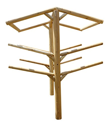 Log Kayak Rack 4-place for Burying & Log roof framing