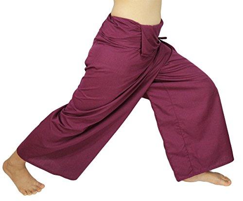 Herringbone Cuffed Short (Lovely Creations's Plus Size Man and Women Thai Fisherman Jumbo Wrap Pants Toray Wild Long Leg Baggy Yoga Casual Trousers Waist 61