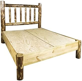 Montana Woodworks Glacier Country Collection Platform Log Bed, Queen